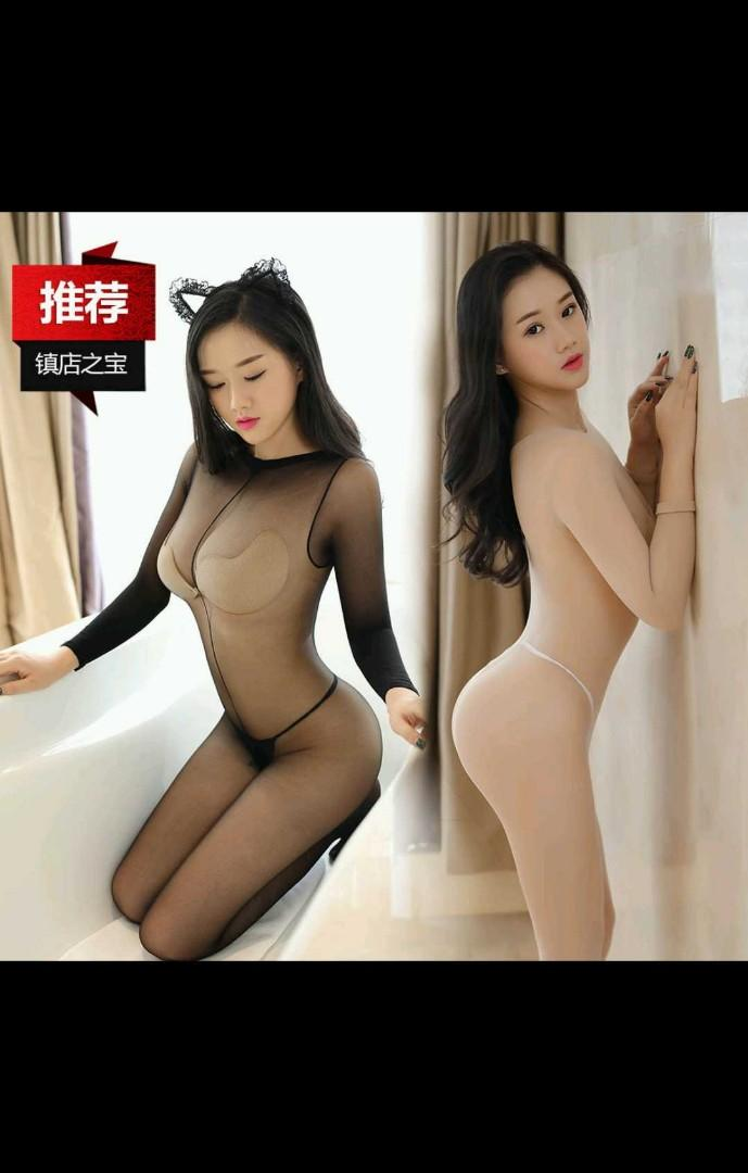 Sexy long sleeve bodystocking jumpsuit JL0303