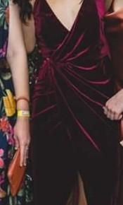 Sheike Dynamic Dress Burgandy