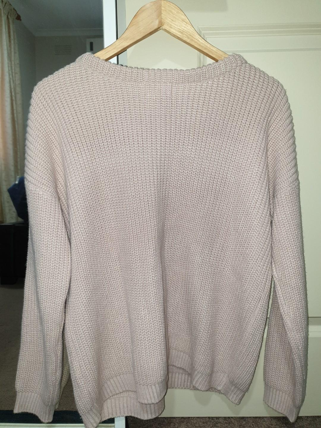 Showpo pink knit jumper - Size 12