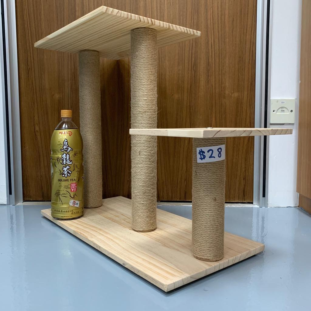 solid wood cat kitten step design scratch post condo tree, not carrier litter box sand cage