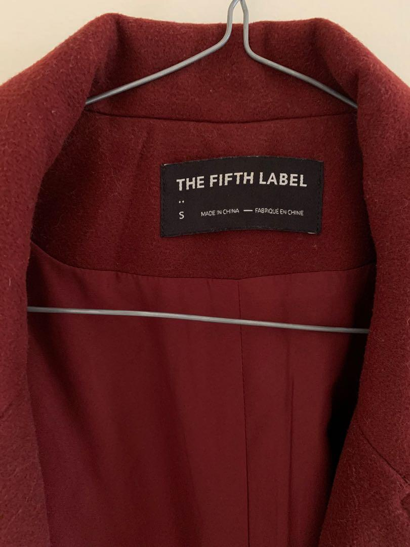 The Fifth Label - Wine/Burgundy Winter Coat size S