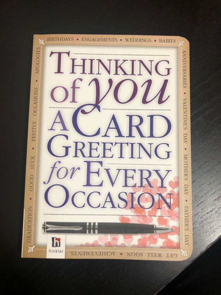 Thinking of you a card greeting for every occasion