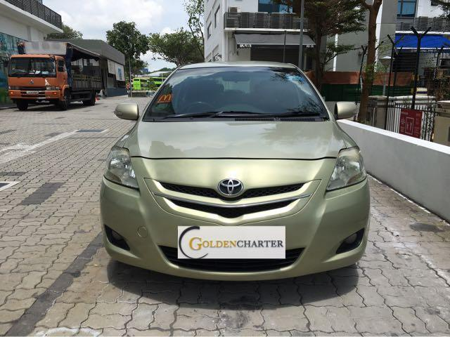 Toyota Vios 1.5A E For Rent! Gojek $150 rental rebate avail!