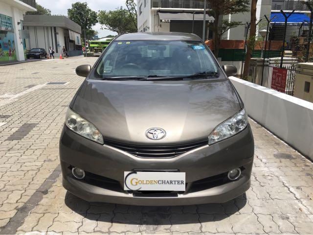 Toyota Wish (MPV-7 seater) for rent! Gojek, GRAB, PHV!