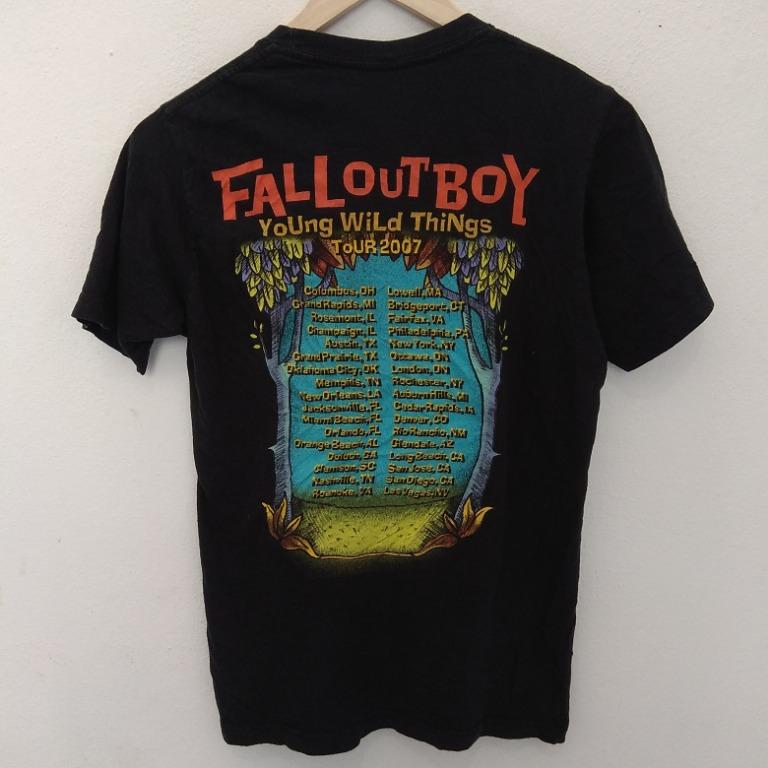 Tshirt Band Punk Rock Fall Out Boy Tour 2007