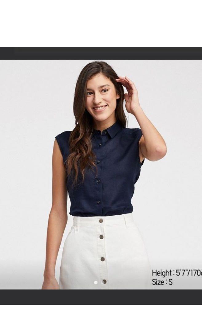 UNIQLO Premium Linen Sleeveless Top - Never worn before