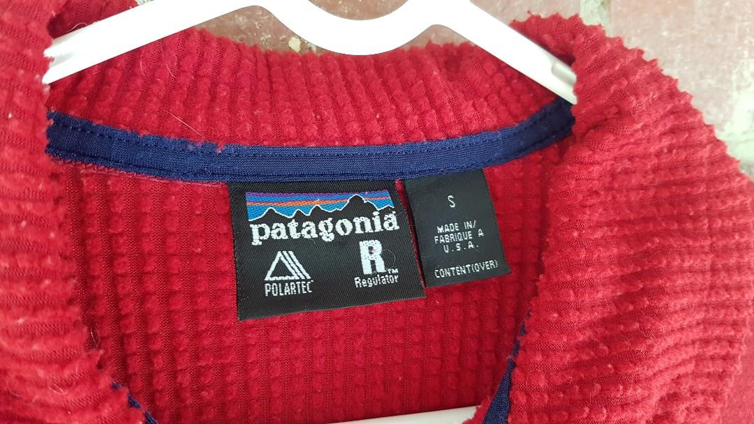 Vintage Patagonia Fleese - MADE IN USA Size 10-12 Red Jumper/Top