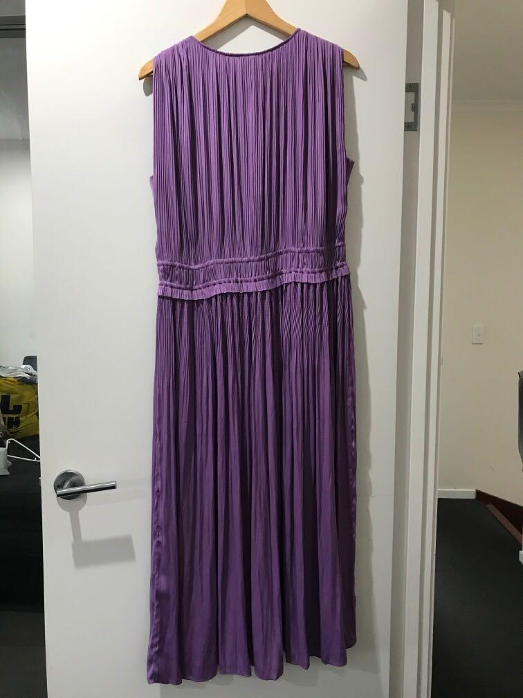 Witchery Grecian midi pleated dress colour violet size Small to Large - reasonable offer accepted