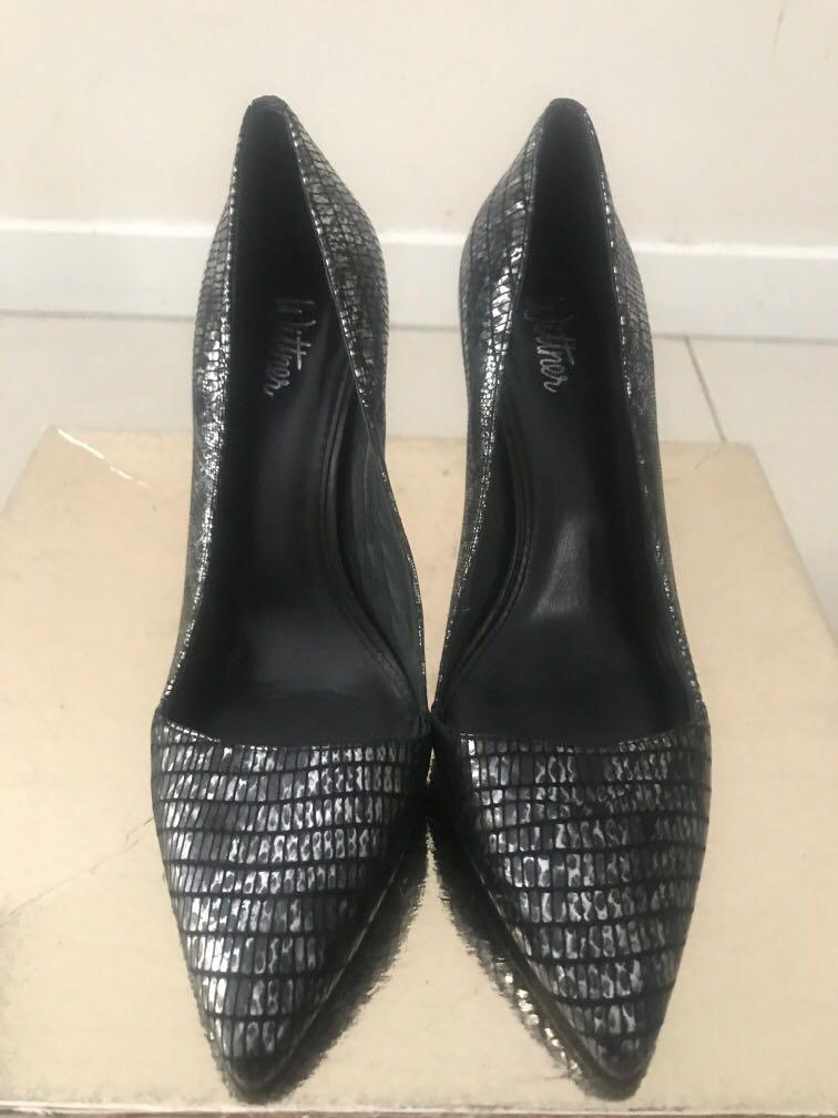 WITTNER black silver print size 7.5 heels - reasonable offer accepted