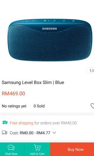 Samsung Level Box Slim Wireless Bluetooth Speaker blue color