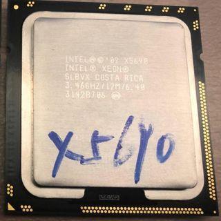 Intel Xeon X5690 CPU 3.46GHz SLBVX 1366 6核12線 130W CPU Mac pro 4.1 - 5.1 伺服器專用