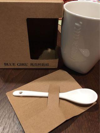全新 BLUE GIRL馬克杯匙組