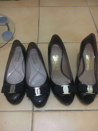 TAKE ALL Salvatore ferragamo wedges and flats authentic