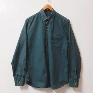 Regalo古著∣Topman 森林綠 長袖襯衫 素色襯衫