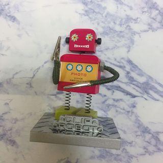 《免運》磁鐵式機器人造型留言夾