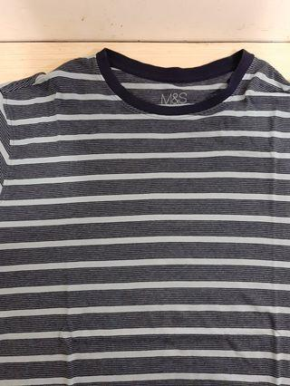 Marks and Spencer T Shirt Stripes