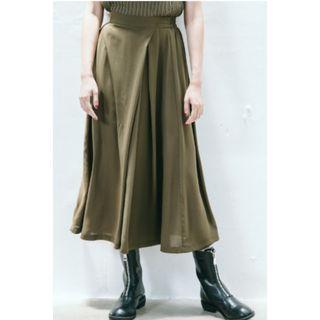 (全新) 黑色前打褶顯瘦防曬雪紡寬褲 XOXO 暗黑高腰褲裙 vii&co slightly numb