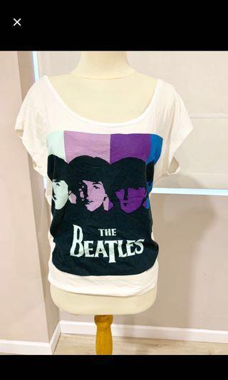 Kaos Beatles Putih
