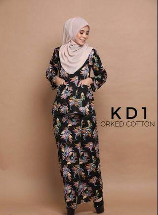 Kurung Kedah English Cotton Code KD1