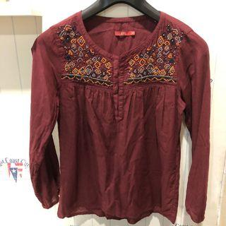 Esprit blouse - color Burgundy