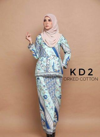 Kurung Kedah English Cotton Code KD2