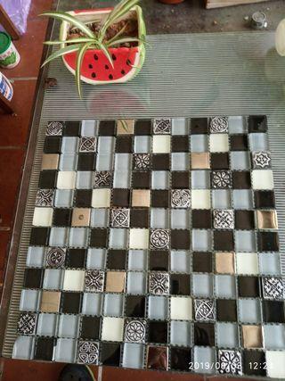 藝術花磚桌墊