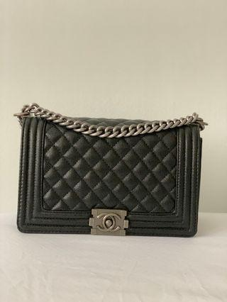 Chanel Boy Inspired 5A white black hardware