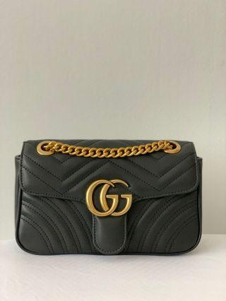 Gucci Marmont Inspired 1:1 Medium Size with gold hardware