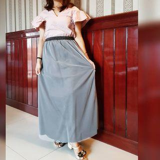 Tille Long Skirt Grey