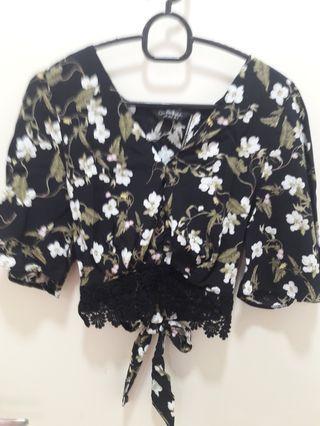 Miss Selfridge Kimono Floral  With Tie Back