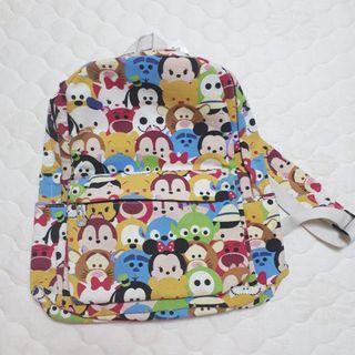 迪士尼tsum tsum 雙肩背包 後背包 書包