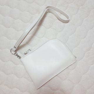白色 頸掛包 零錢包 票卡夾 手機袋 可議價