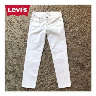 Levis Boyfriend White Jeans