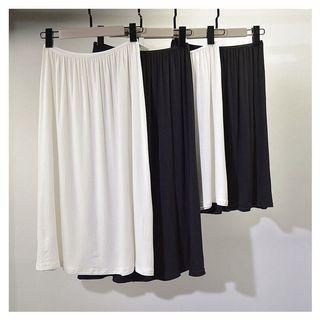 防走光打底內襯裙 長版70cm 白色