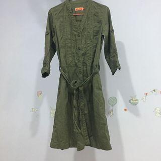 U2 women's khaki style dress / long jacket