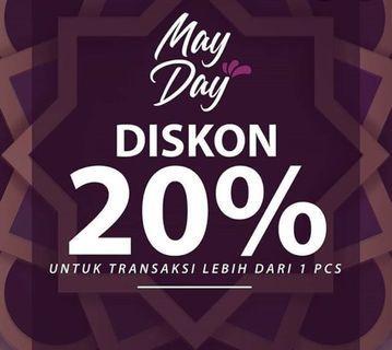 Discount 20 % untuk pembelian lebih dr 1