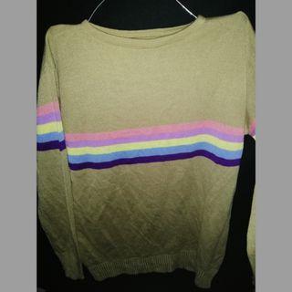 Sweater Rajut rainbow