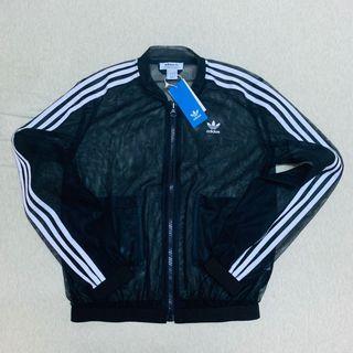 Adidas originals DX3694全新正品透視黑紗外套