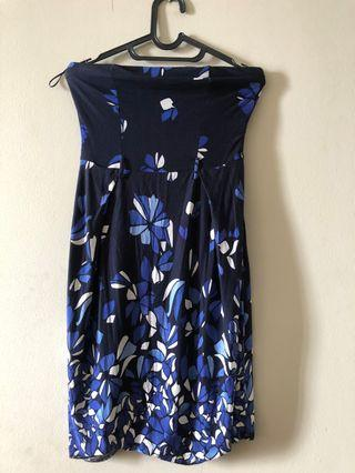 Midi dress Mango Blue Flower #VISITSINGAPORE