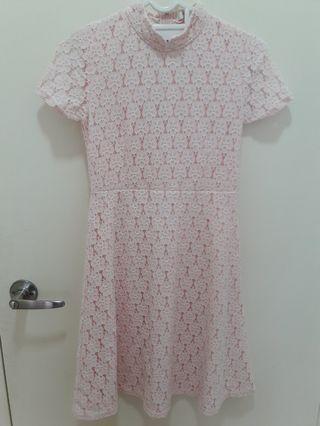 Pink Lace Dress Teenage