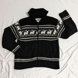 ANTI-LABEL Knitted Zip-Up Sweater