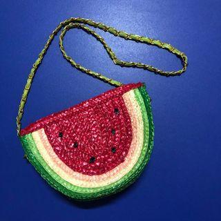 西瓜編織包包