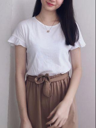 Culottes with ribbon belt