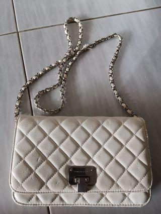 Authentic Charles & Keith White Sling Bag