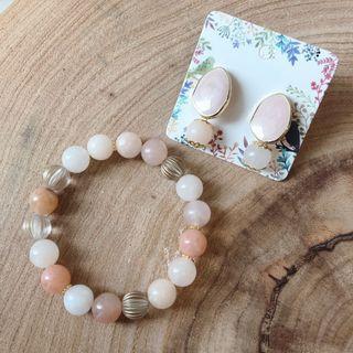 Pink Adventure Bracelet & Earring