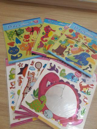 3D Foam & Mirror Stickers For Kids