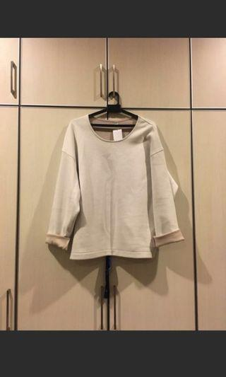 Uniqlo double face long sleeve pullover