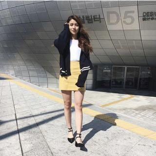 SIVIR 鵝黃色短裙