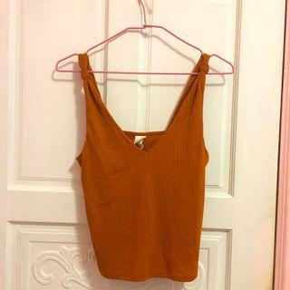夏日橘色H&M背心上衣