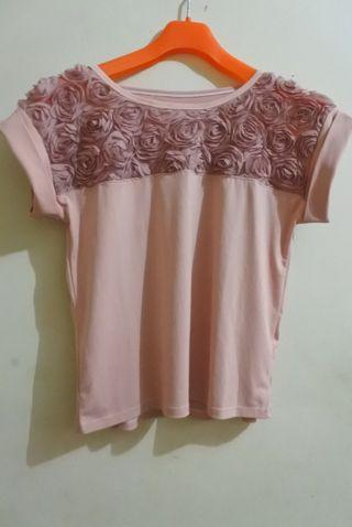 Dusty Pink Rose Top